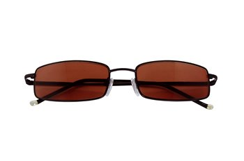 Metal Reader SUN matt black with brown lenses