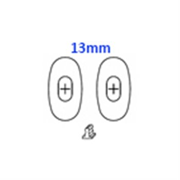 GlassPads oval 13mm click pack of 20 pcs.