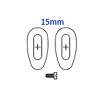 GlassPads oval 15mm screw pack of 20 pcs.