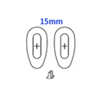 GlassPads oval 15mm click pack of 20 pcs.