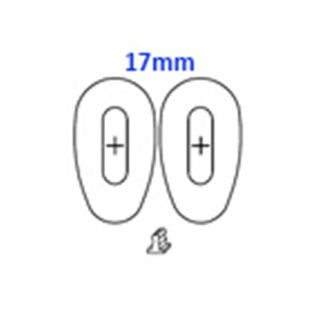 GlassPads oval 17mm click pack of 20 pcs.