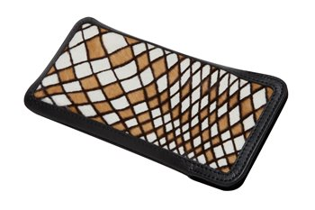 softcase Leather L PONYskin robus giraffe line zebra