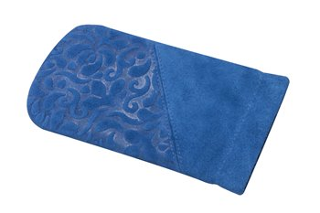 Leather Clic-Clac ORNAMENTO  blue