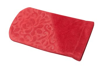 Leather Clic-Clac ORNAMENTO  red