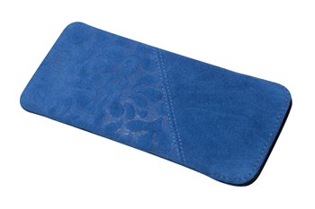 Leather softcase M ORNAMENTO blue