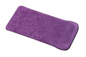 Leather softcase M ORNAMENTO purple