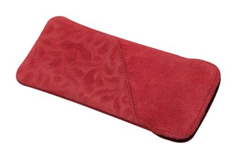 Leather softcase M ORNAMENTO red