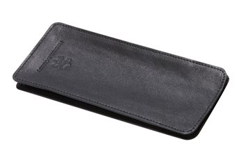 Leather softcase black with black thread