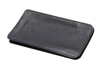 Meriva Leather case L black with blackthread